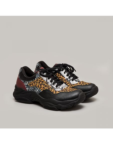 Zerave Sneakers Animal Print