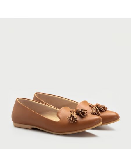 Herzise Flat Shoes Tan