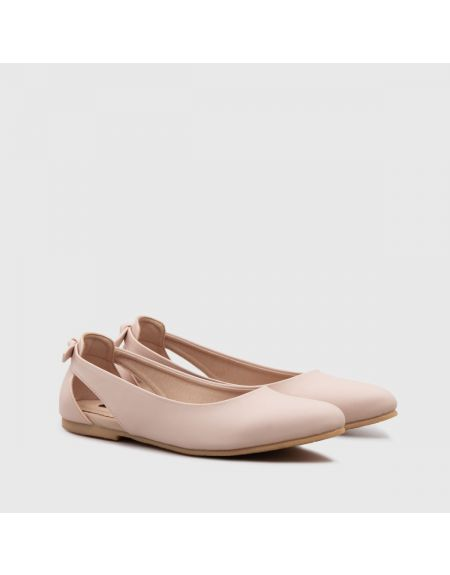 Mabunka Flat Shoes Peach